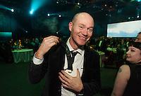 Powershop's Hamish Wilkie. Wellington Gold Awards at TSB Bank Arena, Wellington, New Zealand on Thursday, 9 July 2015. Photo: Dave Lintott / lintottphoto.co.nz