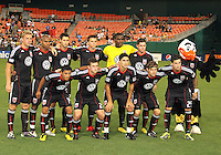Starting eleven of D.C. United during an MLS match against FC Dallas at RFK Stadium in Washington D.C. on August 14 2010. Dallas won 3-1.