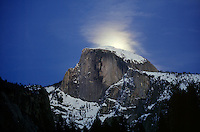 GEOLOGY<br /> Moon Rises Behind Half Dome<br /> Yosemite, NP