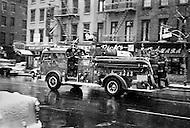 March 1965, New York City Firemen respond to a call.