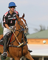 WELLINGTON, FL - FEBRUARY 05:  Nico Escobar #1 of Orchard Hill watches the ball as it heads towards the goal posts, during one of the early matches of the Ylvisaker Cup at the International Polo Club Palm Beach on February 05, 2017 in Wellington, Florida. (Photo by Liz Lamont/Eclipse Sportswire/Getty Images)