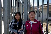 Roma 7 Febbraio  2014<br /> Il Centro di identificazione ed espulsione (CIE), per immigrati di Ponte Galeria a Roma. Migranti cinesi<br />   Center for Identification and Expulsion (CIE) for immigrants from Ponte Galeria in Rome. Chinese migrants