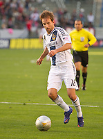 CARSON, CA - March 18,2012: LA Galaxy midfielder Mike Magee (18) during the LA Galaxy vs DC United match at the Home Depot Center in Carson, California. Final score LA Galaxy 3, DC United 1.