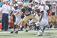Annapolis, MD - September 9, 2016: Navy Midshipmen running back Dishan Romine (28) runs the ball during game between UConn and Navy at  Navy-Marine Corps Memorial Stadium in Annapolis, MD. September 9, 2016.  (Photo by Elliott Brown/Media Images International)