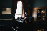 After helping pass a bipartisan bill in the House Transportation and Infastructure Committee, congressman Markwayne Mullin takes a quick lunch in his office on Sept. 19, 2013.