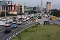 South Austin commuters travel to downtown during morning rush hour traffic.