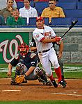 12 April 2008: Washington Nationals' third baseman Ryan Zimmerman at bat against the Atlanta Braves at Nationals Park, in Washington, DC. The Braves defeated the Nationals 10-2...Mandatory Photo Credit: Ed Wolfstein Photo