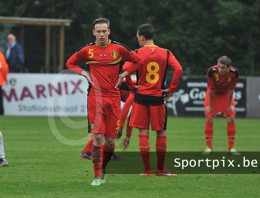 Georgia U19 - Belgium U19 : disappointment on the Belgian team after their defeat<br /> foto DAVID CATRY / Nikonpro.be