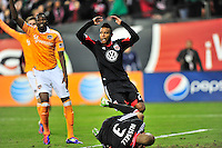 United's Lionard Pajoy reacts after missing goal in second half. Houston ousted D.C. United from the MLS Cup Final with a 1-1 tie at the RFK Stadium in Washington, D.C. on Sunday, November 19, 2012.  Alan P. Santos/DC Sports Box