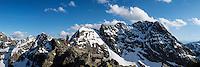 View towards Swinica (2301 m) from summit of Koscielec (2155m), Tatra mountains, Poland