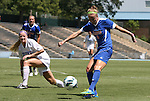 26 August 2012: Florida's Annie Speese takes a shot. The University of Florida Gators defeated the Duke University Blue Devils 3-2 in overtime at Fetzer Field in Chapel Hill, North Carolina in a 2012 NCAA Division I Women's Soccer game.