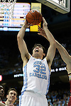 30 January 2016: North Carolina's Luke Maye. The University of North Carolina Tar Heels hosted the Boston College Eagles at the Dean E. Smith Center in Chapel Hill, North Carolina in a 2015-16 NCAA Division I Men's Basketball game. UNC won the game 89-62.