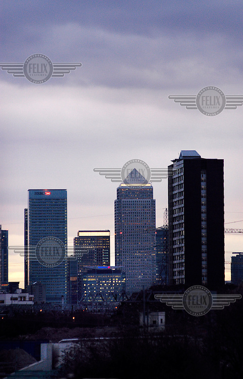 Canary Wharf and Docklands.