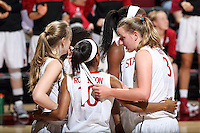 STANFORD, CA - February 27, 2014: Stanford Cardinal's Mikaela Ruef during Stanford's 83-60 victory over Washington at Maples Pavilion.