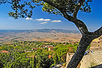 View over the Tuscan countryside from Volterra, Siena, Italy. 200409190034...Copyright Image from Victor Patterson, 54 Dorchester Park, Belfast, UK, BT9 6RJ..Tel: +44 28 9066 1296.Mob: +44 7802 353836.Voicemail +44 20 8816 7153.Skype: victorpattersonbelfast.Email: victorpatterson@mac.com.Email: victorpatterson@ireland.com (back-up)..IMPORTANT: If you wish to use this image or any other of my images please go to www.victorpatterson.com and click on the Terms & Conditions. Then contact me by email or phone with the reference number(s) of the image(s) concerned.