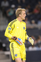 Eric Kronberg goalkeeper Sporting KC..Sporting Kansas City were defeated 3-0 by Montpellier HSC in an international friendly at LIVESTRONG Sporting Park, Kansas City, KS..