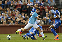 Sergio Aguero Manchester City in action..Manchester City defeated Chelsea 4-3 in an international friendly at Busch Stadium, St Louis, Missouri.