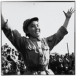 "A young Red Guard performs the ""Loyalty Dance"" while awaiting Mao's appearance in Tiananmen Square. Beijing, 18 October 1966"
