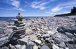 Inukshuk near Lions Head, Georgian Bay