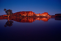 Rainbow Valley in Central Australia reflection in the water