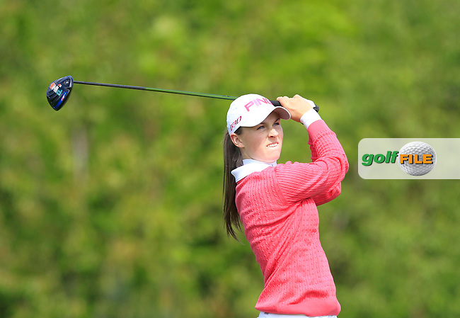 Julie McCarthy (Forrest Little) on the 7th tee during Round 1 of the Irish Women's Open Strokeplay Championship at Dun Laoghaire Golf Club on Saturday 23rd May 2015.<br /> Picture:  Thos Caffrey / www.golffile.ie