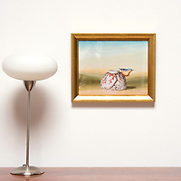 "Kroll: Bird on Bowl, Digital Print, Image Dims. 11"" x 14"", Framed Dims. 13.5"" x 16.5"""