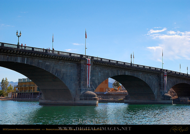 1831 London Bridge reconstruction, Bridgewater Channel Canal, Lake Havasu, Arizona