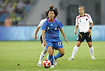 21 August 2008: Yuki Nagasato (JPN) (17). Germany's Women's National Team defeated Japan's Women's National Team 2-0 at the Worker's Stadium in Beijing, China in the Bronze Medal match in the Women's Olympic Football tournament.