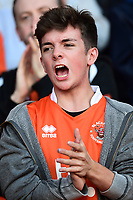 A Blackpool fan shows his support<br /> <br /> Photographer Richard Martin-Roberts/CameraSport<br /> <br /> The EFL Sky Bet League Two Play-Off Semi Final First Leg - Blackpool v Luton Town - Sunday May 14th 2017 - Bloomfield Road - Blackpool<br /> <br /> World Copyright &copy; 2017 CameraSport. All rights reserved. 43 Linden Ave. Countesthorpe. Leicester. England. LE8 5PG - Tel: +44 (0) 116 277 4147 - admin@camerasport.com - www.camerasport.com