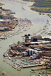 Aerial, Harbour, River Medina, Marina, Cowes, Isle of Wight, UK, Photographs of the Isle of Wight by photographer Patrick Eden