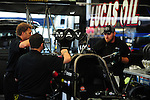 May 5, 2012; Commerce, GA, USA: NHRA crew members for top fuel dragster driver Brandon Bernstein during qualifying for the Southern Nationals at Atlanta Dragway. Mandatory Credit: Mark J. Rebilas-