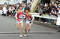 (L to R) Jyunya Kanda (Teikyo-Univ), Kento Tanaka (Teikyo-Univ), JANUARY 2, 2012 - Athletics : The 88th Hakone Ekiden Race the Tsurumi Relay place in Kanagawa, Japan. (Photo by Atsushi Tomura/AFLO SPORT) [1035].