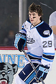 Connor Leen (Maine - 29) - The University of Maine Black Bears defeated the University of New Hampshire Wildcats 5-4 in overtime on Saturday, January 7, 2012, at Fenway Park in Boston, Massachusetts.