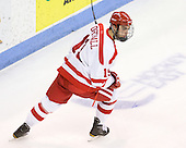 Justin Courtnall (BU - 19) - The visiting Boston College Eagles defeated the Boston University Terriers 3-2 to sweep their Hockey East series on Friday, January 21, 2011, at Agganis Arena in Boston, Massachusetts.