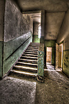 Abandoned lunatic asylum north of Berlin, Germany. Stairway