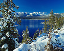 Lake Tahoe Landscape Winter Shoreline