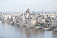 House of the Hungarian Parliament on the Pest side of river Danube part of the world heritage located in Budapest, Hungary on April 05, 2011. ATTILA VOLGYI