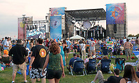 Main Stage near Twilight. Gathering of the Vibes 2010, Seaside Park, Bridgeport, Connecticut