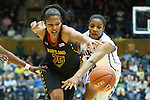 11 February 2013: Maryland's Alyssa Thomas (25) and Duke's Richa Jackson (15). The Duke University Blue Devils played the University of Maryland Terrapins at Cameron Indoor Stadium in Durham, North Carolina in an NCAA Division I Women's Basketball game. Duke won the game 71-56.