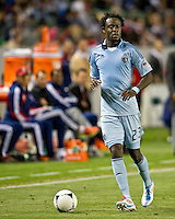 CARSON, CA - April 1, 2012: Kei Kamara (23) of KC during the Chivas USA vs Sporting KC match at the Home Depot Center in Carson, California. Final score Sporting KC 1, Chivas USA 0.