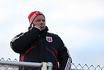 11 December 2009: DC United assistant coach Chad Ashton scouts the game. The University of Virginia Cavaliers defeated the Wake Forest University Demon Deacons 2-1 after overtime at WakeMed Soccer Stadium in Cary, North Carolina in an NCAA Division I Men's College Cup Semifinal game.