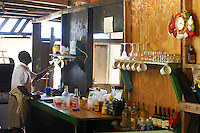 Anguilla, British West indies, Caribbean - Palm grove beach shack bar and kitchen in Savannah bay