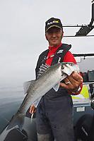 Europe/France/Bretagne/56/Morbihan/ Belle-Ile-en-Mer/Le Palais: Pêche en mer au bar avec Arnaud de Wildenberg Moniteur Guide de Pêche