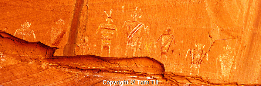 Pictograph figures on Cliff Wall, Colorado Plateau, Arizona