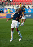 26 June 2010: Los Angeles Galaxy defender Sean Franklin #28 during the warm-up in a game between the Los Angeles Galaxy and the Toronto FC at BMO Field in Toronto..Final score was 0-0...
