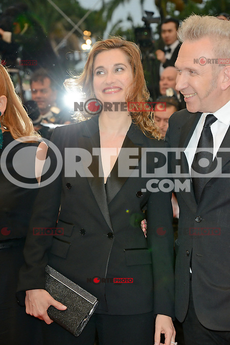 "Emmanuelle Devos and Jean Paul Gaultier attending the ""Amour"" Premiere during the 65th annual International Cannes Film Festival in Cannes, France, 20th May 2012..Credit: Timm/face to face /MediaPunch Inc. ***FOR USA ONLY***"