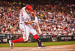 22 May 2015: Washington Nationals first baseman Ryan Zimmerman in action against the Philadelphia Phillies at Nationals Park in Washington, DC. The Nationals defeated the Phillies 2-1 in the first game of their 3-game weekend series. Mandatory Credit: Ed Wolfstein Photo *** RAW (NEF) Image File Available ***
