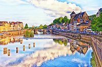 A view of the town of Laval along the Mayenne River.