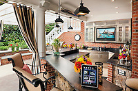 Make outdoor entertaining even easier with a complete outdoor kitchen and grill.