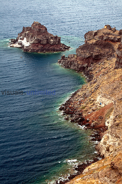 Coastline of Imerovigli, Santorini, Greece